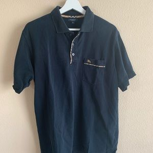 Authentic Burberry London Logo Polo Shirt